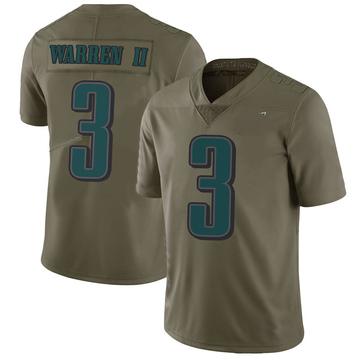 Youth Nike Philadelphia Eagles Michael Warren II Green 2017 Salute to Service Jersey - Limited