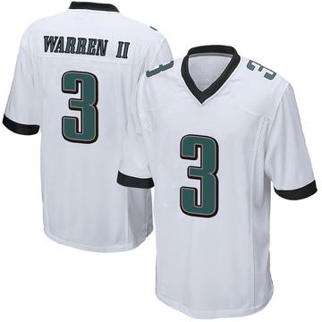 Youth Nike Philadelphia Eagles Michael Warren II White Jersey - Game