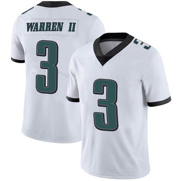Youth Nike Philadelphia Eagles Michael Warren II White Vapor Untouchable Jersey - Limited