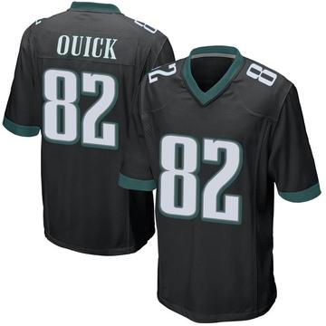 Youth Nike Philadelphia Eagles Mike Quick Black Alternate Jersey - Game