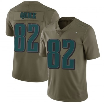 Youth Nike Philadelphia Eagles Mike Quick Green 2017 Salute to Service Jersey - Limited