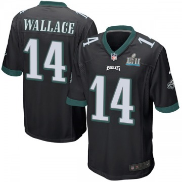 Youth Nike Philadelphia Eagles Mike Wallace Black Alternate Super Bowl LII Jersey - Game