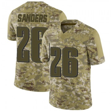 Youth Nike Philadelphia Eagles Miles Sanders Camo 2018 Salute to Service Jersey - Limited