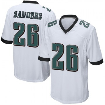 Youth Nike Philadelphia Eagles Miles Sanders White Jersey - Game