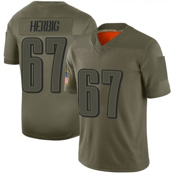 Youth Nike Philadelphia Eagles Nate Herbig Camo 2019 Salute to Service Jersey - Limited