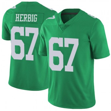 Youth Nike Philadelphia Eagles Nate Herbig Green Vapor Untouchable Jersey - Limited