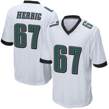 Youth Nike Philadelphia Eagles Nate Herbig White Jersey - Game