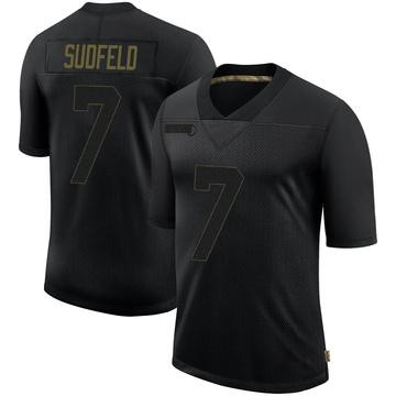 Youth Nike Philadelphia Eagles Nate Sudfeld Black 2020 Salute To Service Jersey - Limited