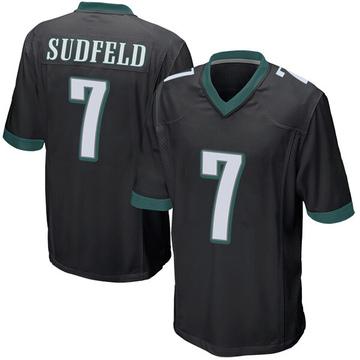 Youth Nike Philadelphia Eagles Nate Sudfeld Black Alternate Jersey - Game