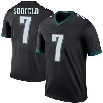 Youth Nike Philadelphia Eagles Nate Sudfeld Black Color Rush Jersey - Legend