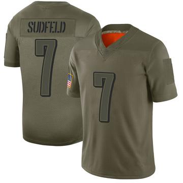 Youth Nike Philadelphia Eagles Nate Sudfeld Camo 2019 Salute to Service Jersey - Limited