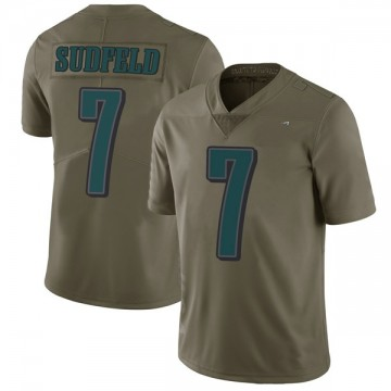 Youth Nike Philadelphia Eagles Nate Sudfeld Green 2017 Salute to Service Jersey - Limited