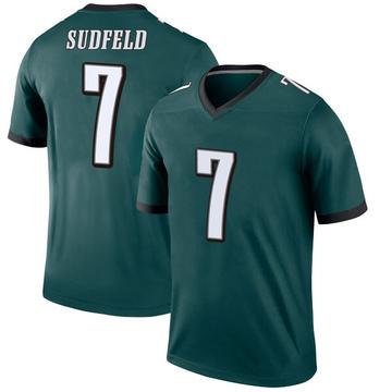 Youth Nike Philadelphia Eagles Nate Sudfeld Green Jersey - Legend