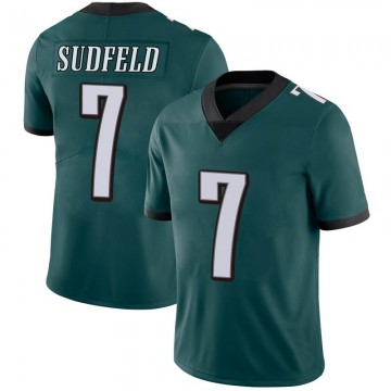 Youth Nike Philadelphia Eagles Nate Sudfeld Green Midnight 100th Vapor Jersey - Limited