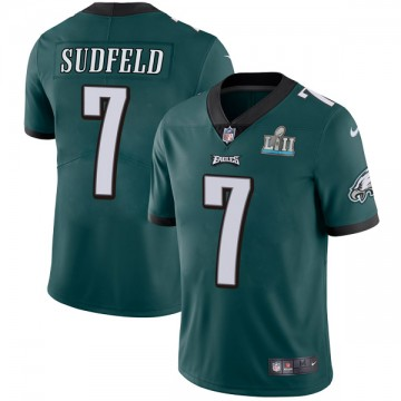 Youth Nike Philadelphia Eagles Nate Sudfeld Green Midnight Team Color Super Bowl LII Vapor Untouchable Jersey - Limited