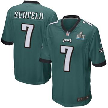 Youth Nike Philadelphia Eagles Nate Sudfeld Green Team Color Super Bowl LII Jersey - Game