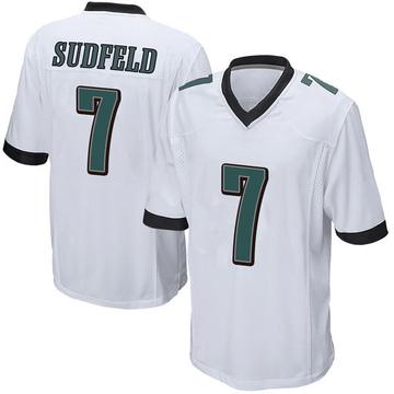 Youth Nike Philadelphia Eagles Nate Sudfeld White Jersey - Game