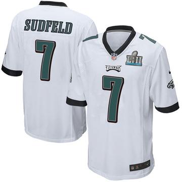 Youth Nike Philadelphia Eagles Nate Sudfeld White Super Bowl LII Jersey - Game