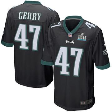Youth Nike Philadelphia Eagles Nathan Gerry Black Alternate Super Bowl LII Jersey - Game