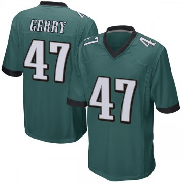 Youth Nike Philadelphia Eagles Nathan Gerry Green Team Color Jersey - Game
