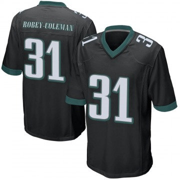Youth Nike Philadelphia Eagles Nickell Robey-Coleman Black Alternate Jersey - Game