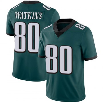 Youth Nike Philadelphia Eagles Quez Watkins Green Midnight 100th Vapor Jersey - Limited
