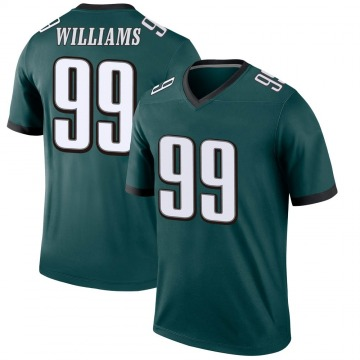 Youth Nike Philadelphia Eagles Raequan Williams Green Jersey - Legend