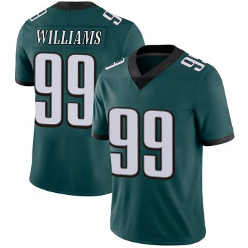 Youth Nike Philadelphia Eagles Raequan Williams Green Midnight 100th Vapor Jersey - Limited