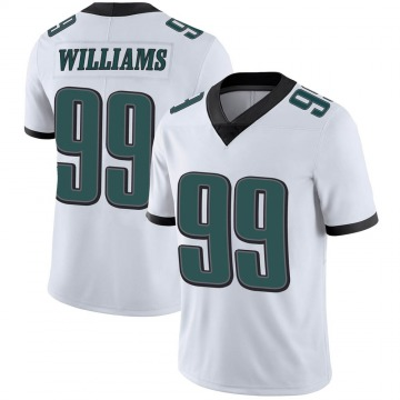 Youth Nike Philadelphia Eagles Raequan Williams White Vapor Untouchable Jersey - Limited