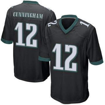 Youth Nike Philadelphia Eagles Randall Cunningham Black Alternate Jersey - Game