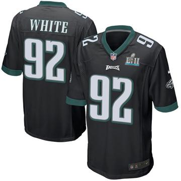 Youth Nike Philadelphia Eagles Reggie White Black Alternate Super Bowl LII Jersey - Game