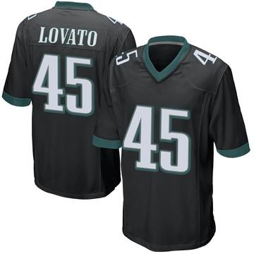 Youth Nike Philadelphia Eagles Rick Lovato Black Alternate Jersey - Game