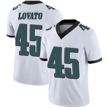 Youth Nike Philadelphia Eagles Rick Lovato White Vapor Untouchable Jersey - Limited