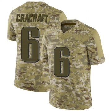 Youth Nike Philadelphia Eagles River Cracraft Camo 2018 Salute to Service Jersey - Limited