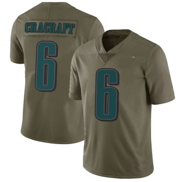 Youth Nike Philadelphia Eagles River Cracraft Green 2017 Salute to Service Jersey - Limited