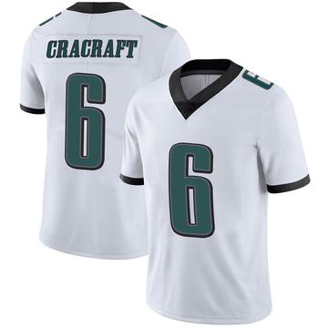 Youth Nike Philadelphia Eagles River Cracraft White Vapor Untouchable Jersey - Limited