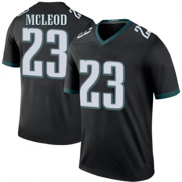 Youth Nike Philadelphia Eagles Rodney McLeod Black Color Rush Jersey - Legend