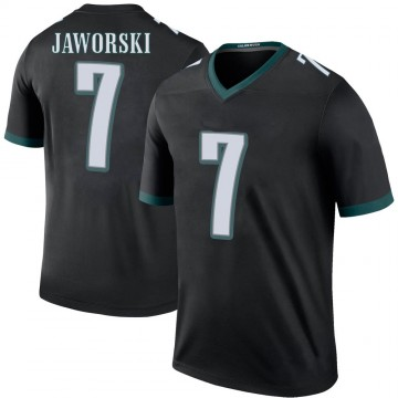 Youth Nike Philadelphia Eagles Ron Jaworski Black Color Rush Jersey - Legend