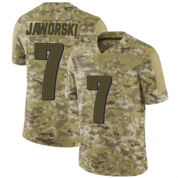 Youth Nike Philadelphia Eagles Ron Jaworski Camo 2018 Salute to Service Jersey - Limited
