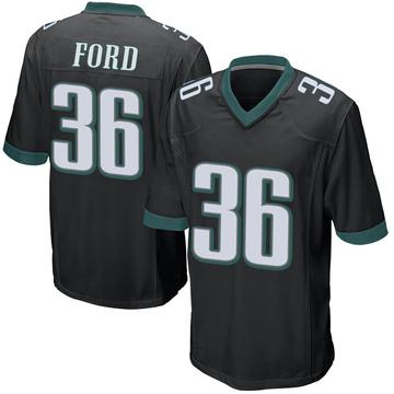 Youth Nike Philadelphia Eagles Rudy Ford Black Alternate Jersey - Game