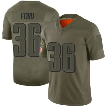 Youth Nike Philadelphia Eagles Rudy Ford Camo 2019 Salute to Service Jersey - Limited