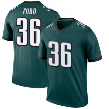 Youth Nike Philadelphia Eagles Rudy Ford Green Jersey - Legend