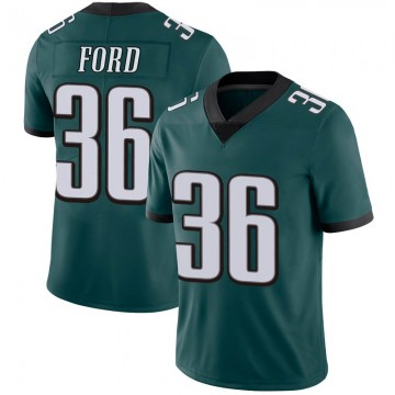 Youth Nike Philadelphia Eagles Rudy Ford Green Midnight 100th Vapor Jersey - Limited