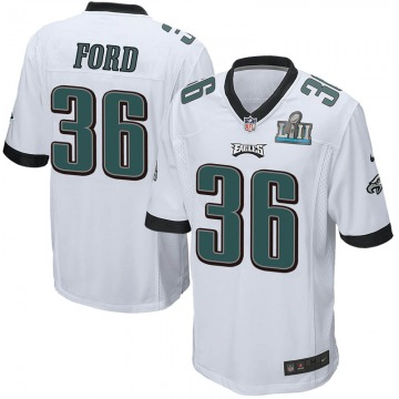Youth Nike Philadelphia Eagles Rudy Ford White Super Bowl LII Jersey - Game
