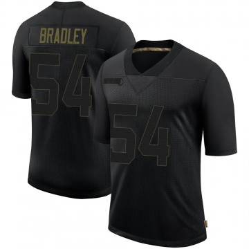Youth Nike Philadelphia Eagles Shaun Bradley Black 2020 Salute To Service Jersey - Limited