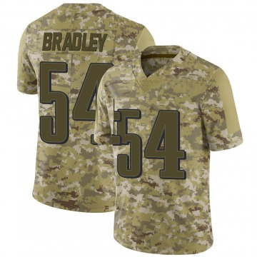 Youth Nike Philadelphia Eagles Shaun Bradley Camo 2018 Salute to Service Jersey - Limited