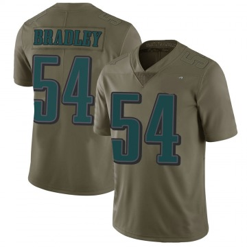 Youth Nike Philadelphia Eagles Shaun Bradley Green 2017 Salute to Service Jersey - Limited