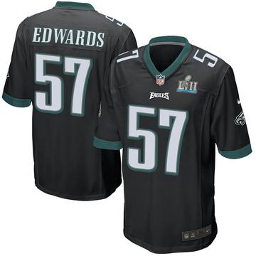 Youth Nike Philadelphia Eagles T.J. Edwards Black Alternate Super Bowl LII Jersey - Game