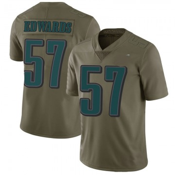 Youth Nike Philadelphia Eagles T.J. Edwards Green 2017 Salute to Service Jersey - Limited