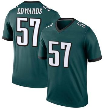 Youth Nike Philadelphia Eagles T.J. Edwards Green Jersey - Legend